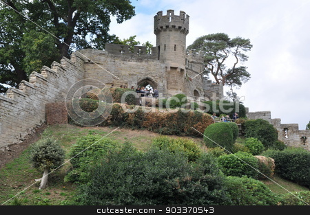 Warwick Castle in England stock photo, Warwick Castle in England, UK by Ritu Jethani