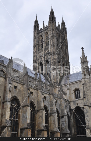 Canterbury Cathedral in England stock photo, Canterbury Cathedral in England, UK by Ritu Jethani