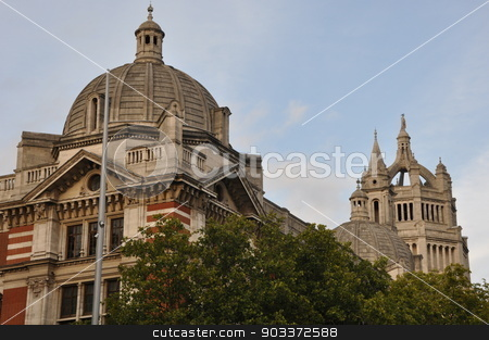 Victoria & Albert Museum in London stock photo, Victoria & Albert Museum in London, England by Ritu Jethani