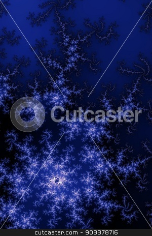 Dark Blue Fractal stock photo, Fractal background in the different shades of dark blue. by Henrik Lehnerer