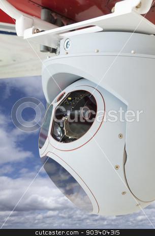 Closeup of Drone Camera and Sensor Pod Module stock photo, Closeup of a Drone Camera and Sensor Pod Module. by Andy Dean
