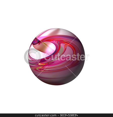 Abstract Red Globe stock photo, Red color globe on white background. by Henrik Lehnerer