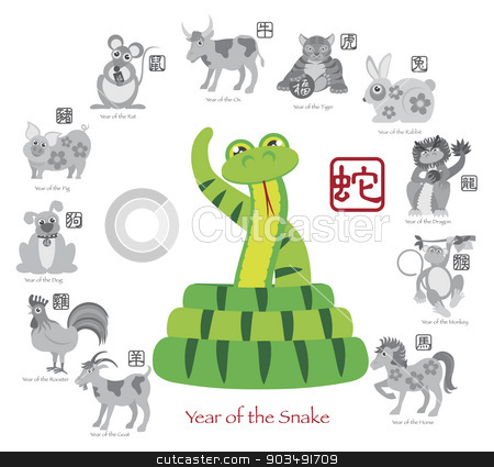 Colors Year of The Snake Chinese New Year Snake Color