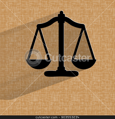 Scales balance. Flat modern web button on a flat geometric abstract background