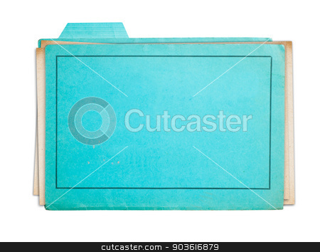 Old folder isolated  stock photo, Old folder isolated on white background clipping path by Pablo Caridad
