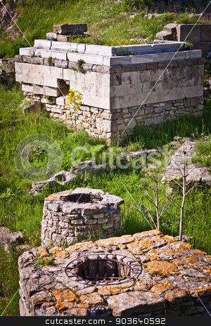 Portion of the Ruins of Troy stock photo, Portion of the Ancient City of Troy by Scott Griessel