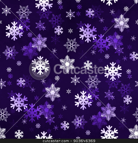 Dark Lilac Snowflakes stock photo, Dark lilac winter Christmas snowflakes with a seamless pattern as background image. by Henrik Lehnerer