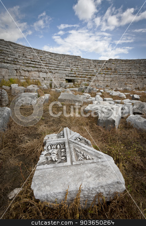 Ruins at Perga in Turkey stock photo, Remains of ampitheater at Perga in Turkey by Scott Griessel