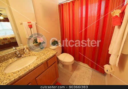 Bathroom stock photo, A Bathroom interior shot in a home by Lucy Clark