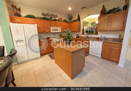 Kitchen stock photo, A Kitchen interior shot in a home by Lucy Clark