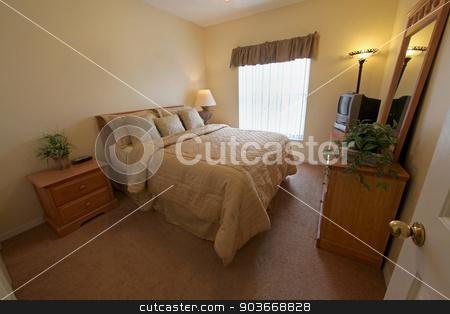 Queen Bedroom stock photo, A Queen Bedroom, interior of a home by Lucy Clark
