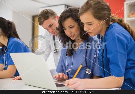 Medical students sitting and talking