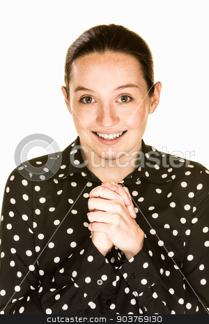 Hopeful Young Lady stock photo, Young woman with an expression of genuine hope by Scott Griessel