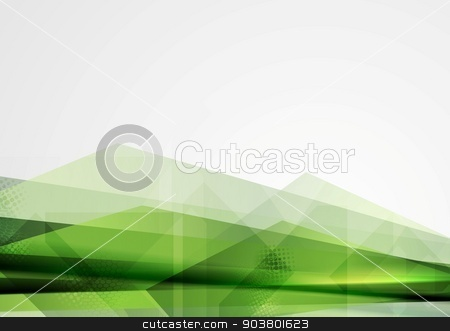 Green grunge tech shapes abstract background