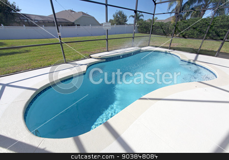 Swimming Pool stock photo, A swimming pool at a home in Florida by Lucy Clark