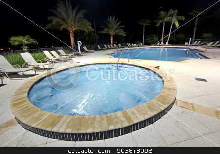 Spa and Pool stock photo, A large spa and community swimming pool by Lucy Clark