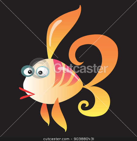 Cartoon fish on a neutral background stock vector clipart, Cartoon colorful coral fish on a neutral background by studiostoks