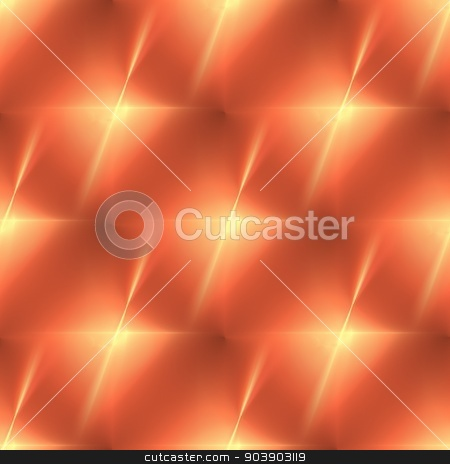 Fractal Orange Star stock photo, Fractal with vibrant orange color in the shape of a star. by Henrik Lehnerer