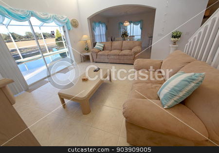 Living Room stock photo, A Living Room in a Home in Florida by Lucy Clark