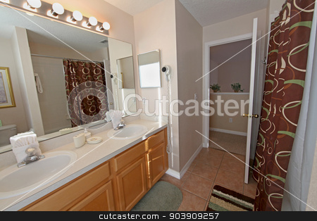Bathroom stock photo, A Bathroom, interior shot of a home. by Lucy Clark