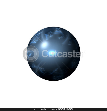 Abstract Blue Globe stock photo, Blue color globe on white background. by Henrik Lehnerer