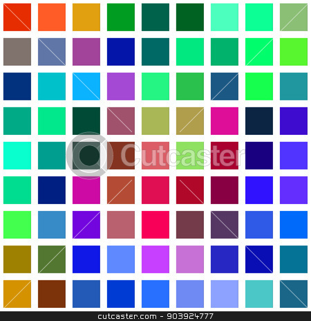Color square blocks on a white background illustration. stock photo, Color square blocks on a white background illustration. by Stephen Rees