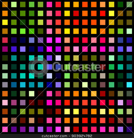 Multicolored square blocks on a black background. stock photo, Multicolored square blocks on a black background. by Stephen Rees