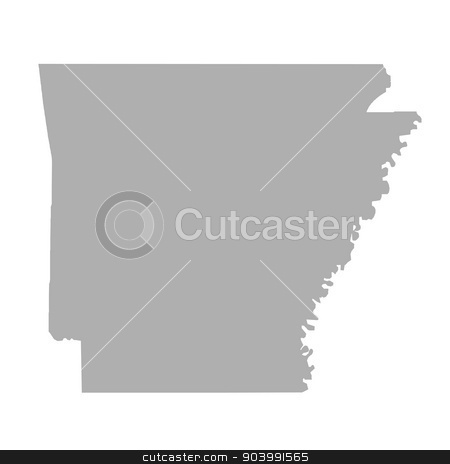 Arkansas State map stock photo, Arkansas State map isolated on a white background, U.S.A. by Martin Crowdy