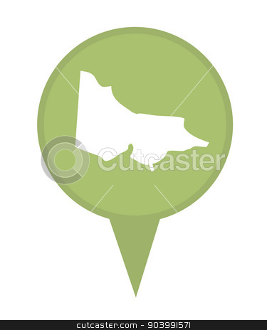 Australia State of Victoria map marker pin stock photo, Australia State of Victoria map marker pin isolated on a white background. by Martin Crowdy