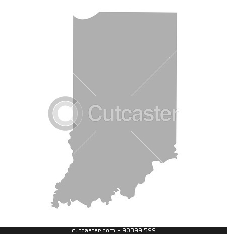 Indiana State map stock photo, Indiana State map isolated on a white background, USA. by Martin Crowdy