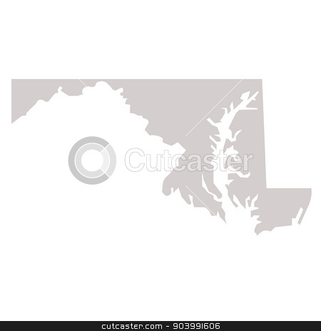 Maryland State map stock photo, Maryland State map isolated on a white background, USA. by Martin Crowdy