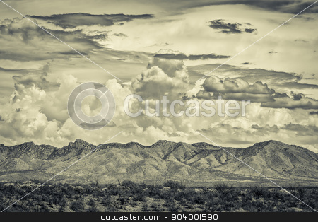 Desert Wilderness Mountains stock photo, Desert wilderness mountains during monsoon season in Arizona by Scott Griessel
