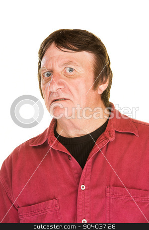 Uncertain Man stock photo, Middle aged white male with uncertain expression by Scott Griessel