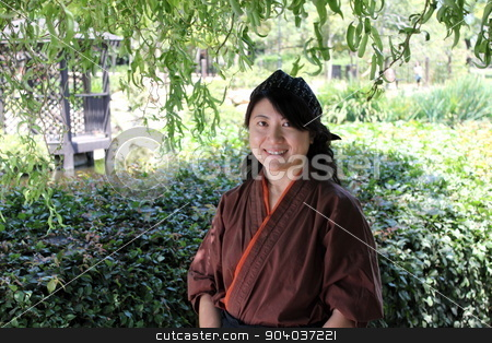 Japanese Women stock photo, Portrait of a Japanese woman with traditional clothing. by Henrik Lehnerer