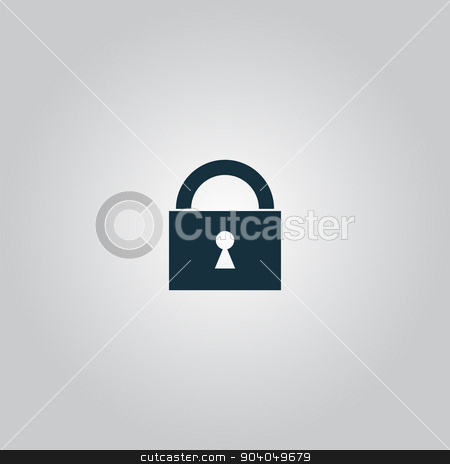 Vector padlock icon stock vector