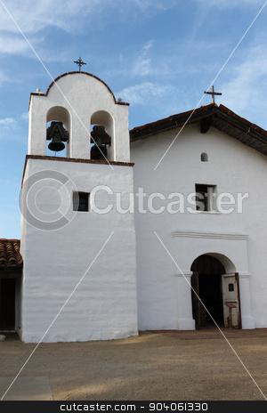 El Presidio de Santa Barbara stock photo, The Presidio Chapel at El Presidio de Santa Barbara State Park. by Henrik Lehnerer