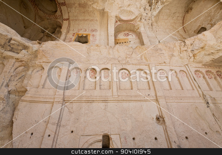 Church at Goreme in Turkey stock photo, Remains of historic church in Cappadocia Turkey by Scott Griessel