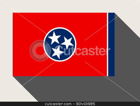 American State of Tennessee flag stock photo, American State of Tennessee flag in flat web design style. by Martin Crowdy