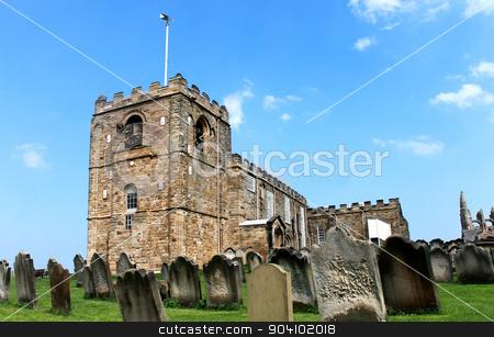 Saint Marys church in Whitby stock photo, Saint Marys church in Whitby, North Yorkshire, England. by Martin Crowdy