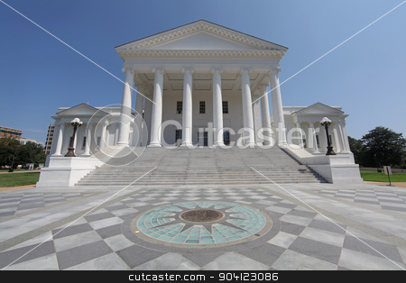 Virginia State Capitol Building stock photo, The Virginia State Capitol Building in Richmond by Lucy Clark