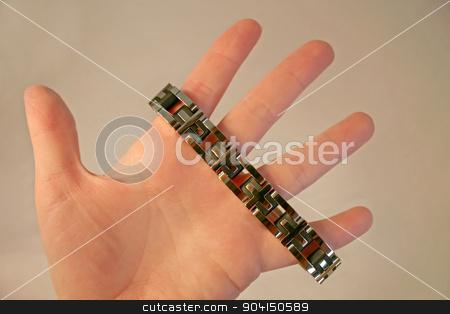 Jewelry stock photo, A piece of jewelry, a bracelet, on a hand. by Lucy Clark