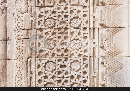 Architectural Detail from Turkish Caravasary stock photo, Architectural close up of typical Turkish detail pattern on caravansary by Scott Griessel