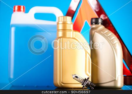 Liquids for car on vivid moto concept stock photo, Liquids for car on vivid moto concept by Sebastian Duda
