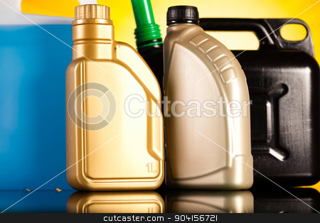 Liquids for car on vivid moto concept stock photo, Liquids for car on vivid moto concept by Sebastian Duda