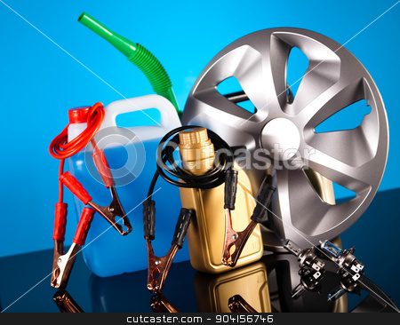Car Auto Accessories on vivid moto concept stock photo, Car Auto Accessories on vivid moto concept by Sebastian Duda