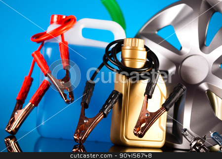 Car Auto Accessories on vivid moto concept stock photo, Car Auto Accessories on vivid moto concept by Sebastian Duda