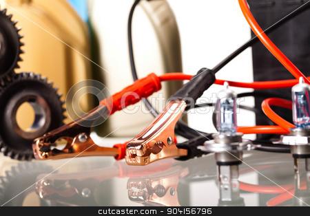 Parts Accessories on vivid moto concept stock photo, Parts Accessories on vivid moto concept by Sebastian Duda