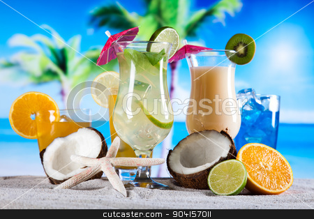 Cocktails, alcohol drinks set, natural colorful tone stock photo, Cocktails, alcohol drinks set, natural colorful tone by Sebastian Duda