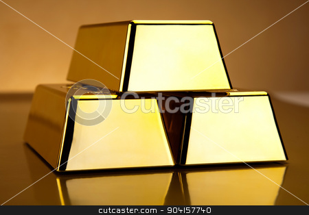 Stack of gold bars, ambient financial concept stock photo, Stack of gold bars, ambient financial concept by Sebastian Duda