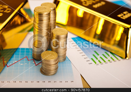 Money, coins background, ambient financial concept stock photo, Money, coins background, ambient financial concept by Sebastian Duda